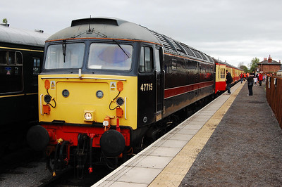 47715 'Poseidon' awaits departure from Leeming Bar with the 0950 to Redmire (04/05/2009)