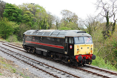 47715 runs round at Redmire before working the 1555 train back to Leeming Bar (04/05/2009)
