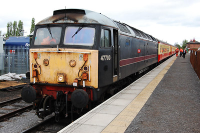 47703 heads the 1215 to Redmire at Leeming Bar (04/05/2009)
