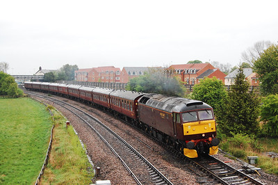 47760 rounds the curve at Church Fenton with 1Z20 0630 Newcastle-Carlisle NELPG charter, which it hauled as far as Hellifield (04/05/2009)