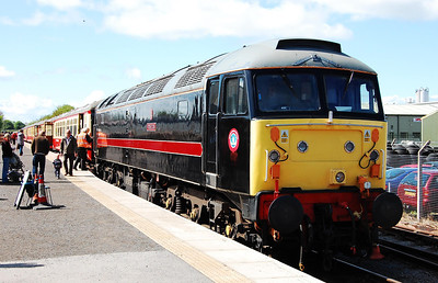 47715 'Poseidon' on arrival back at Leeming Bar with the 1105 from Redmire during a diesel running weekend at the Wensleydale Railway (03/05/2009)