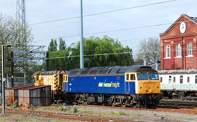 Advenza's 47237 stabled in Doncaster West Yard after running light from Sheerness the previous night (02/05/2009)