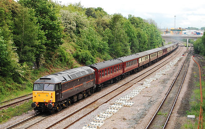47798 'Prince William' brings up the rear as '786 approaches the A61 overbridge at Stourton (22/05/2009)