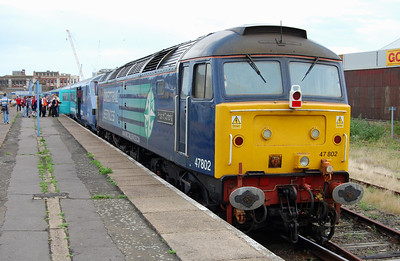 On the rear of the set was 47802 'Pride of Cumbria', pictured at Lowestoft with 1G93 1557 return to Norwich (24/07/2009)
