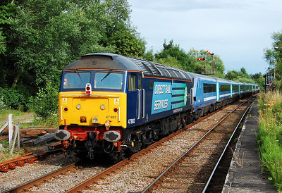 47802 brings up the rear of 5G96 at Brundall. The loco then worked 1G95 1800 from Lowestoft back to Norwich (24/07/2009)