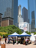 Pershing Square - market stalls and skyscrapers