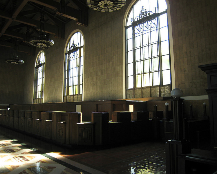 Old ticket counters at Union Station