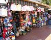 Souvenir stalls in Olvera Street by the Pueblo