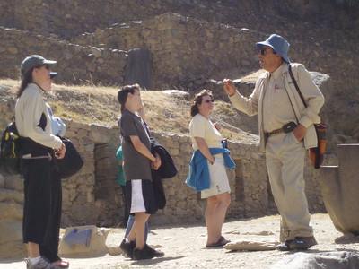 Lalo lectures at Ollantaytambo