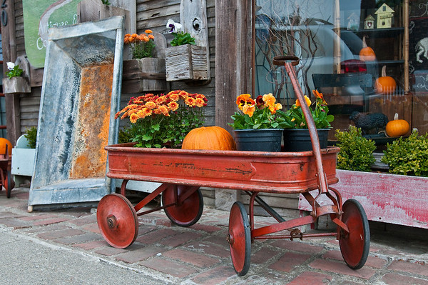 After driving from Menlo Park via Page Mill Road/Alpine Road we ended up in Pescadero. We parked and found a cute little antique store that had this cart out front. I couldn't help taking this photo!  Normally HDR photos (the previous 2) are done when you've got some harsh lighting; in this case the lighting was pretty good but I wanted to try to bring out the awesome details in the cart. This is the non-HDR version, just for reference.
