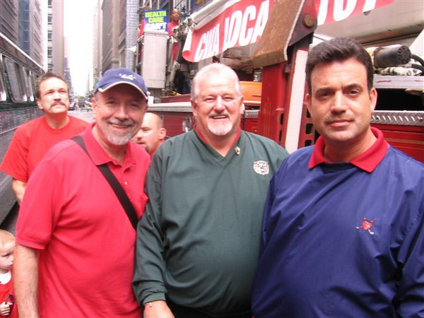 Business Agent Pat Gibbons, Business Agent Marty Shannon, Chief Steward Harry DeLaBastide (left to right)