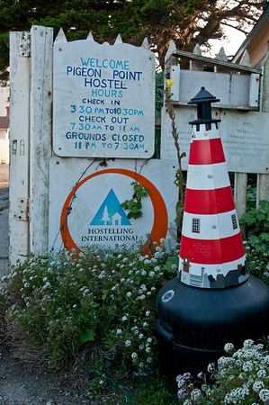 Who knew this mini-lighthouse was a cigarette trash can?!