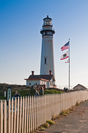 The Pigeon Point Lighthouse, which wasn't getting lit (sadly) that night :(