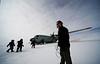 People boarding the plane. <br /> <br /> Folk stiger på flyet<br /> Photo: Ed Stockhard