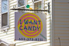 Candy Store Sign on Chapel Street
