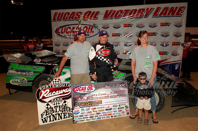 Jimmy Owens and crew in Victory Lane @ Portsmouth Raceway Park