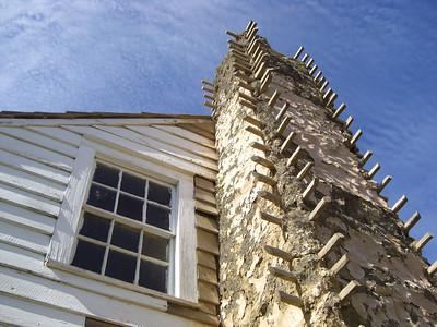 Early chimney wood/mud