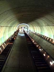Escalator at the Woodley Park-Zoo/Adams Morgan metro stop - 4 stories?
