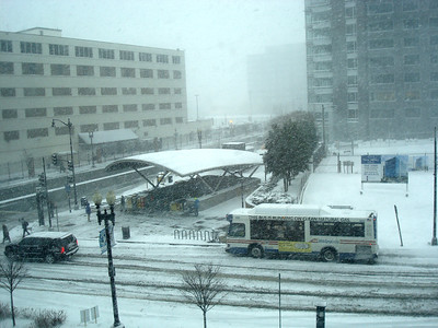 The view from my office window. That's the Navy Yard Metro Station.