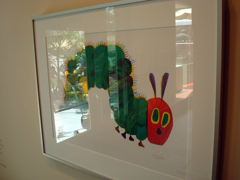 "Caterpillar, from ""The Very Hungry Caterpillar"", Lithograph, 1969, Eric Carle"
