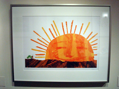 "Caterpillar and Sun, from ""The Very Hungry Caterpillar"", Lithograph, 1969, Eric Carle"