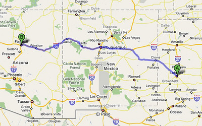 Day 1: Lubbock to Flagstaff. 640 miles. A long day