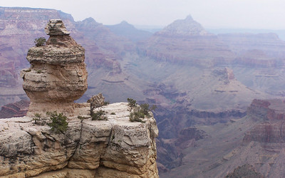 Grand Canyon. We hiked about three miles of the south rim of the canyon and it was spectacular