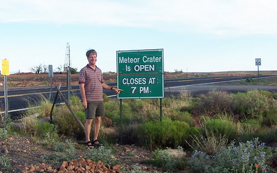 How do you CLOSE a 50,000-year-old, 4000-foot-wide meteor crater? We got there at 6:45 and decided it would have to wait for a future road trip