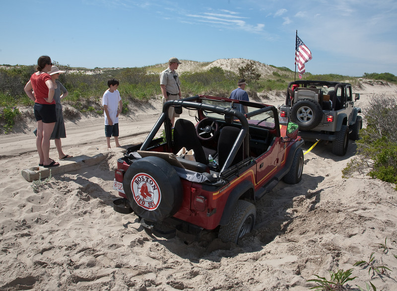 Jeep stuck in sand