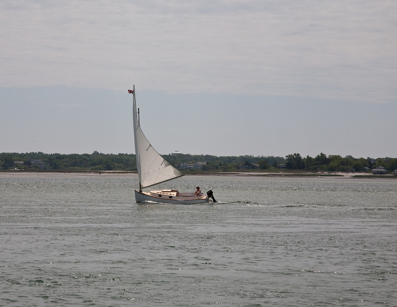 Sailboat in Barnstable harbor