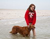 Isabel and Rogue in the water