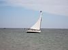 Sail boat close-hauled