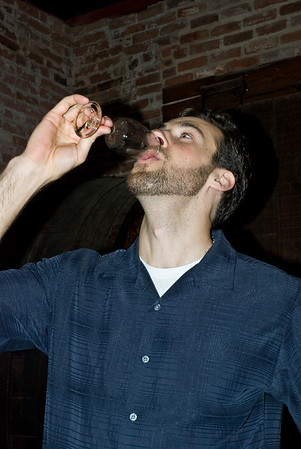 Martin drinking yummy
