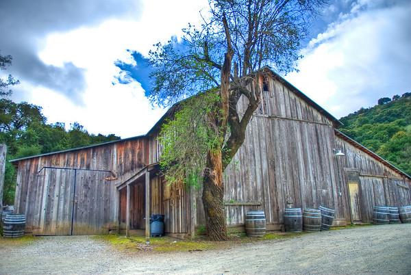 HDR of the cool barn. The sky killed me here though :(
