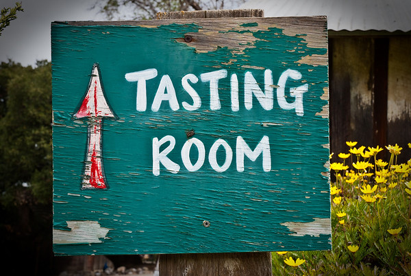 Tasting room sign, to go with my sign collection