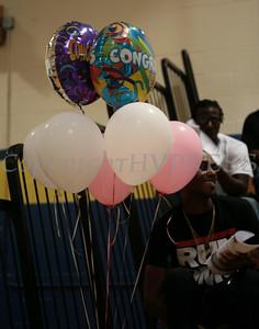 Balloons await a Newburgh Free Academy summer graduate on Thursday, August 20, 2009 in Newburgh, NY. Hudson Valley Press/CHUCK STEWART, JR.