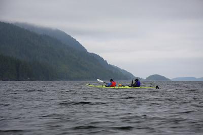 Nina and Scott paddling