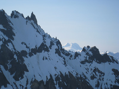Garibaldi in the distance, Vulcan's Thumb upper left.