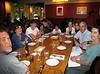 At dinner: Michael, Ellen, Joe, Xavier, Benjamin, Lily, Isabel, Richard, and Chantal