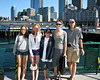 Isabel, Lily, Benjamin, Chantal, and Richard on the ferry