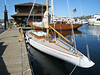 Sailing yachts at the Center for Wooden Boats