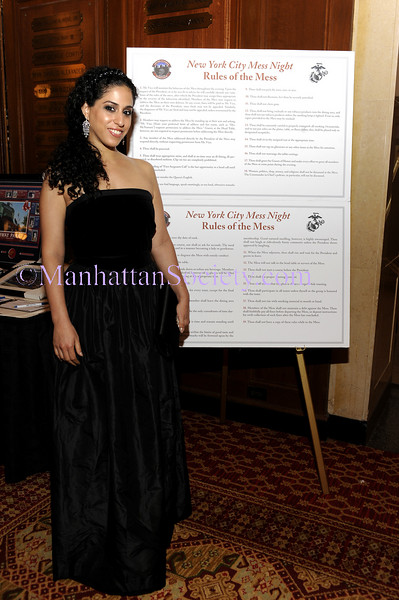 "NEW YORK-JUNE 30: Israeli born Opera singer Inbal Sharett who was invited to sing the American National Anthem attends Second Annual New York City Marines ""Mess Night"" Benefit on Tuesday, June 30, 2009 at The New York Athletic Club, 180 Central Park South, New York City, NY (Photo Credit: ManhattanSociety.com by Christopher London)"