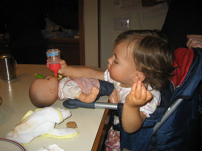 Mia Feeding her Baby Clare