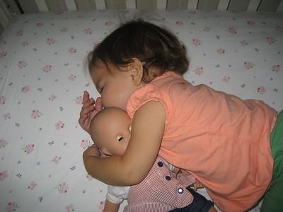 Rare Sighting: Mama Mia with Dolly -- Both Sleeping