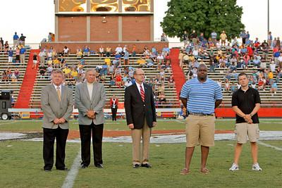 Football halftime recognition; September 05, 2009.