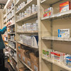 Tribune-Star/Joseph C. Garza<br /> Over the counter but out of reach: If customers want any medication containing ephedrine or pseudoephedrine at JR Pharmacy on Poplar Street, technician Gloria Savant will have to get it for them in the back of the store.