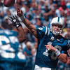 Tribune-Star/Joseph C. Garza<br /> I see you, Reggie: Indianapolis Colts quarterback Peyton Manning spots a wide open Reggie Wayne as a Jacksonville defender closes in Sunday during the Colts' 14-12 win in Indianapolis.