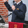 "Sing praise: Salvation Army Envoy Gordon Hoag led the song service during their ""Meeting on the Green"" Sunday morning."