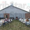"""Meet me at the Green: The Salvation Army held an outdoor service Sunday morning. Named """"Meeting on the Green"""" the church service was followed by a lunch for the attendees."""