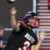 Lookin' long: Terre Haute South quarterback Bryn Schwartz fires the ball downfield during game action Friday night.